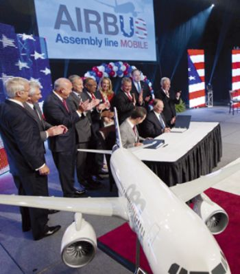 Airbus to start manufacturing in the US