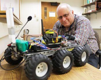 Language-learning wheeled robot