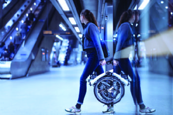 Brompton unveils new electric folding bike