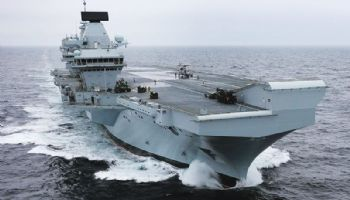 Portsmouth welcomes UK's new aircraft carrier