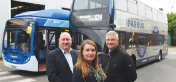 Britain's first biogas-powered bus