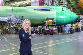 AMRC 'Apprentice of the Year' visits Boeing