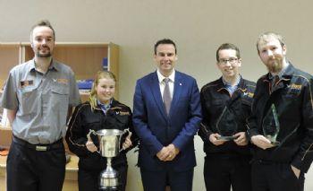Mazak apprentices win three training awards