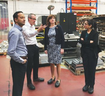 Loughborough MP visits JC Metalworks