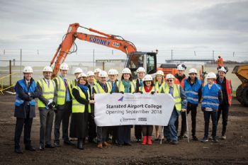 Construction starts at Stansted Airport College