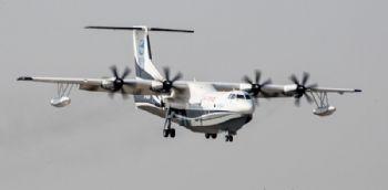 AG600 amphibious aircraft makes first flight
