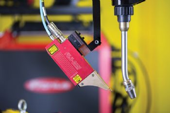 Welding quality improved with laser-guided camera