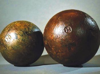 The science of preserving Tudor cannonballs