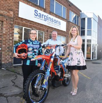 Sarginsons sponsors Motocross pursuits