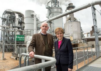 First Minister opens Norbord's Inverness plant