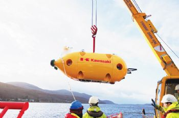 Japanese AUV trials at The Underwater Centre