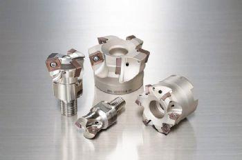 Screw-locking shoulder mill range extended