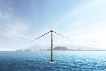 Self-installing offshore wind turbine