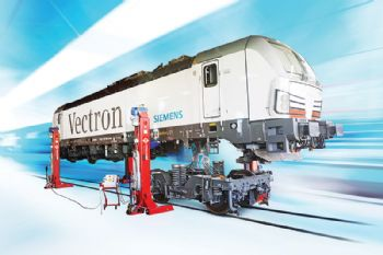 Heavy-duty four-post lifts for the rail sector