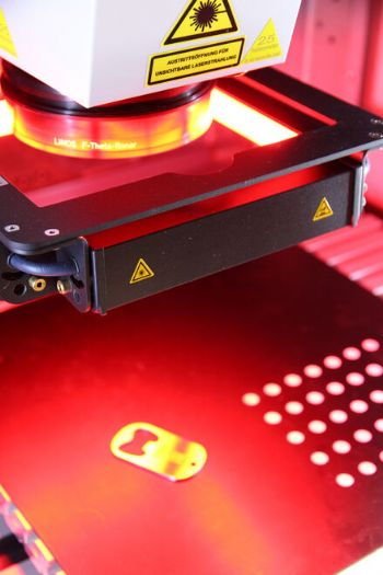 Laser marking system handed over to university