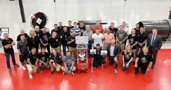 Rocket Lab celebrates 100th Rutherford engine