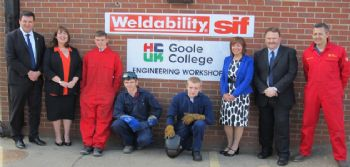 Welding support for Goole College