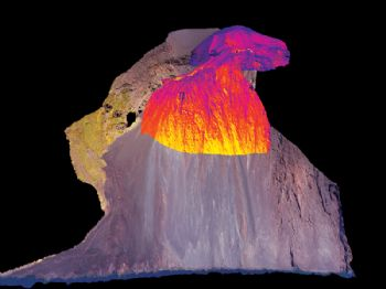 World's first 3-D thermal image of a volcano