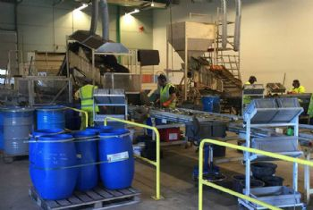 Battery recycling plant extended with upgrade