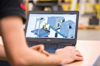 Upgraded 3-D simulation for robots