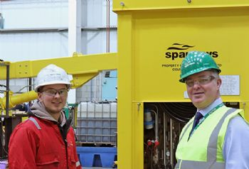 Aberdeen-built luffing cranes showcased to MP