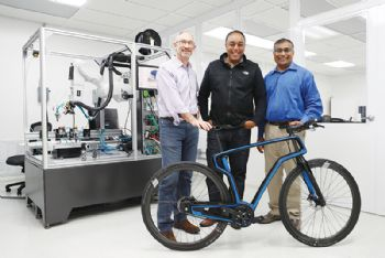World's first 3-D printed carbon bicycle
