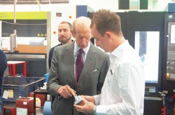 Royal visit for Harlow Group