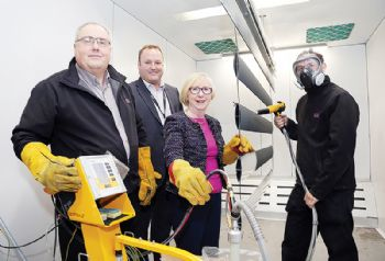 Fabrication firm unveils new powder coating plant