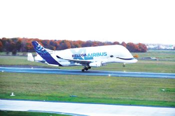 BelugaXL touches down at Broughton