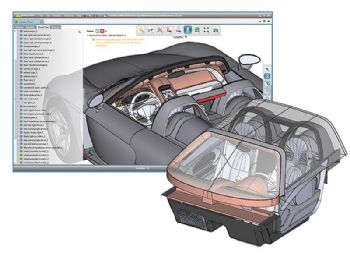 Optimised handling of large 3-D CAD models