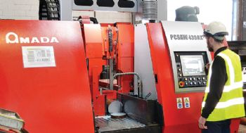 'Pulsating' sawing technology at Barrett Steel Ltd