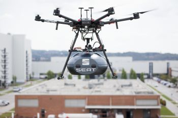 SEAT takes deliveries by drone