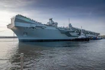UK's second new aircraft carrier sets sail