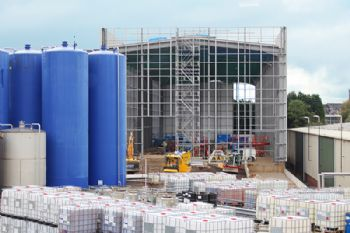 Raw materials warehouse under construction