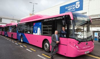 Glasgow Airport introduces electric buses