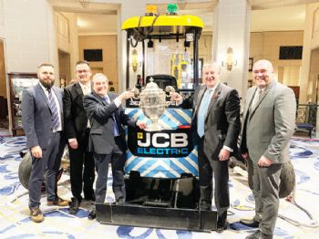 Electric mini-digger charges off with award