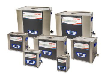 Bench-top ultrasonic cleaning baths