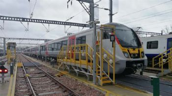 Electric commuter trains arrive in Essex