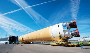 Boeing rolls out first Space Launch System