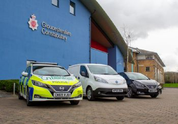 Gloucestershire police take charge of 75 EV's