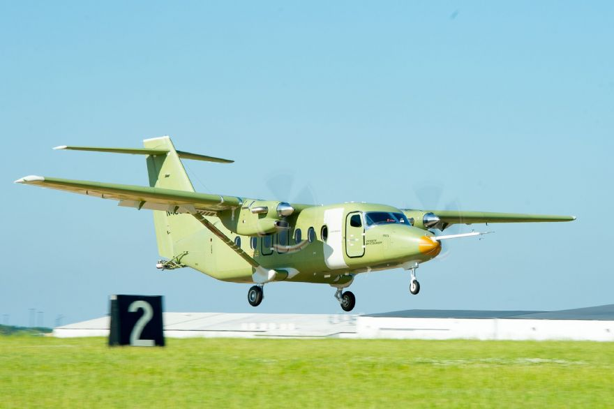 Cessna SkyCourier turboprop takes flight