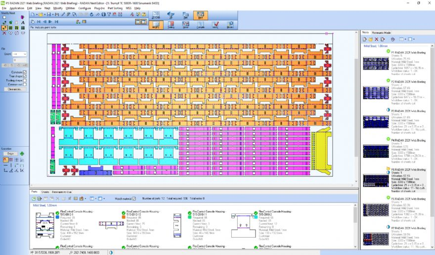 Software optimises nesting for punching machines