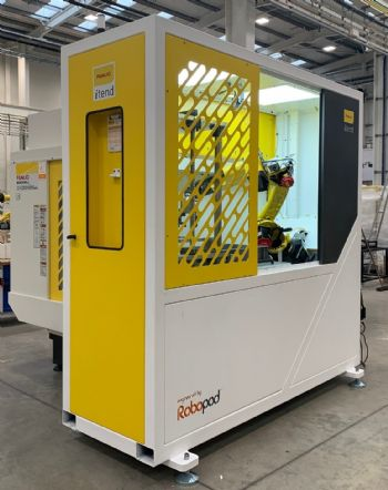 Ultra-low-footprint machine-tending cell launched