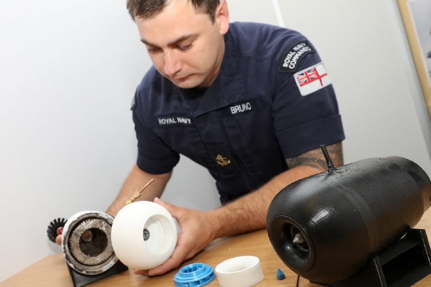 Royal Navy trainee builds his own mini jet engine
