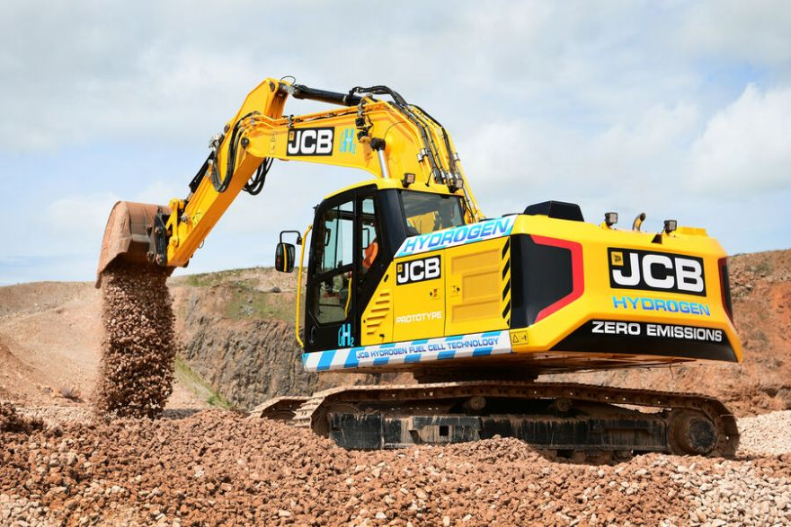 World's-first hydrogen-fuelled excavator unveiled
