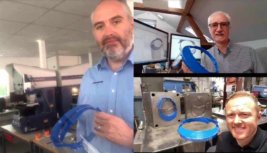 Manufacturing group produces new 'reusable visors'