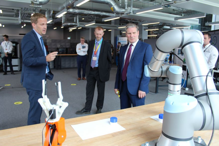 Labour leader gets a guided tour of AMRC Cymru