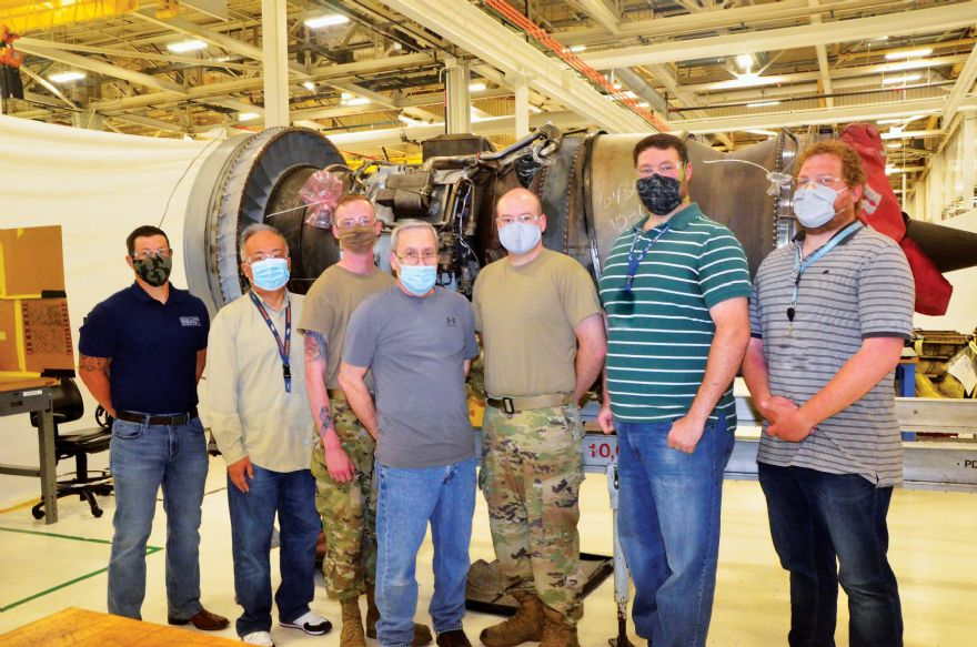 First 3-D printed engine component for USAF