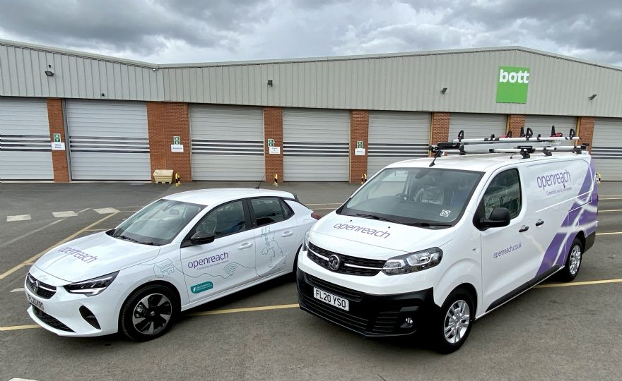 Vauxhall helps Openreach 'go electric'
