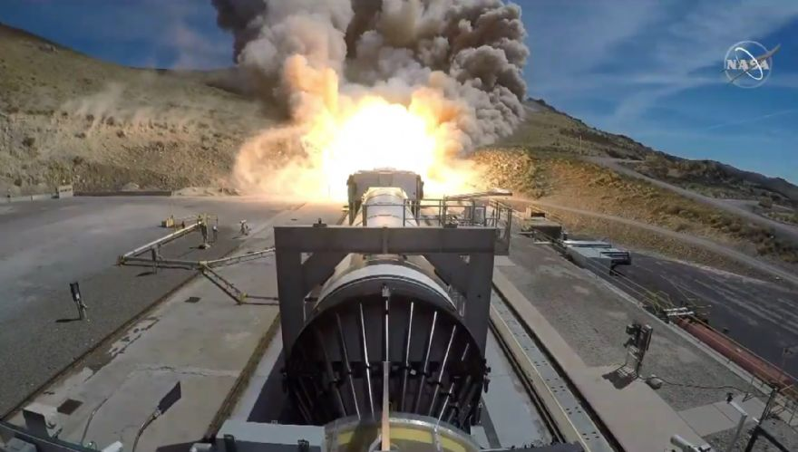 NASA's Space Launch System booster tested